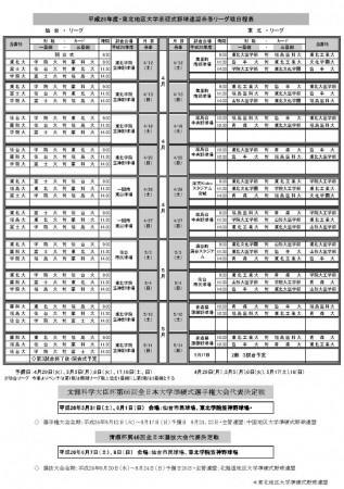 26年春季リーグ戦